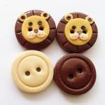 Little lions - set of 4 pol..