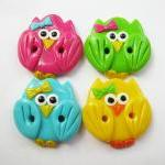 Cute little owls - set of 4..