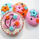 Joy - set of 4 polymer clay..